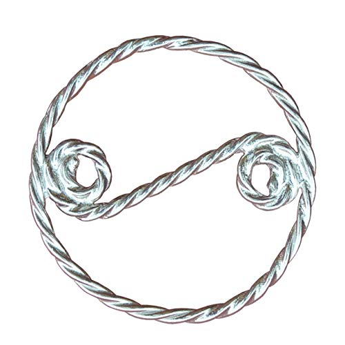 Twisted Pewter Rings - Scarf Ring, Twisted Scarf Ring, Celtic Scarf Ring, Handcast, Fine Pewter, by William Sturt