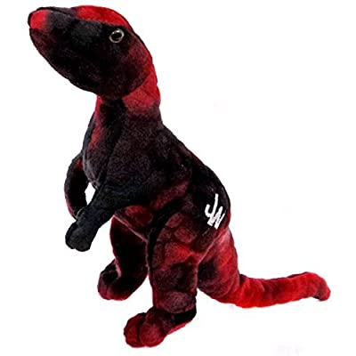 "Jurassic World Velociraptor 7"" Plush [Red]: Toys & Games"