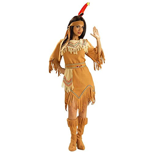 Water Themed Costumes For Adults (Forum Novelties Women's Adult Native American Maiden Costume, Multi Colored, One Size)