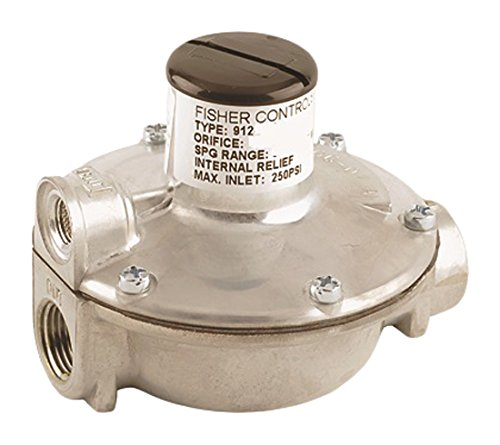 Emerson-Fisher LP-Gas Equipment, 912H-520, 1/4'' x 1/4'' FNPT, High-Pressure Regulator, Outlet: 2.7-5 PSI, Vent Over Outlet, UL Listed