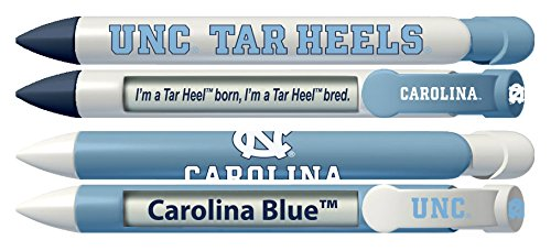 University of North Carolina Tar Heels Rotating Message Pens - 4 pack (8006) Officially Licensed Collegiate Product