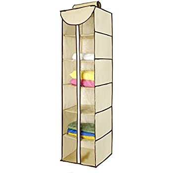 Ziz Home Hanging Closet Organizer With Zipper | 6 Shelves 48u201dx 12u201dx
