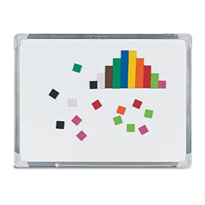 """EAI Education Magnetic QuietShape Foam 1"""" Square Tiles: 10 Colors - Set of 50: Toys & Games"""