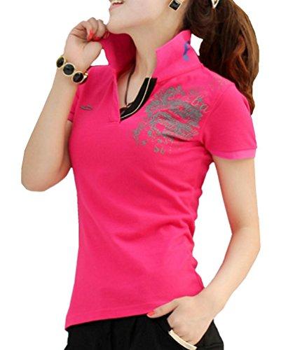 Heaven Days(ヘブンデイズ) ポロシャツ ゴルフシャツ スキッパー スタンドカラー 半袖 レディース 1707G0228