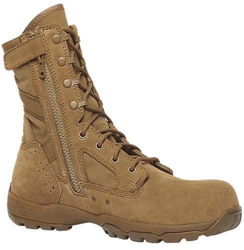 Belleville Mens Flyweight Lightweight Hot Weather Side-Zip Composite Toe Boot, Coyote, 10