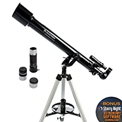 Whether you're an amateur astronomer or becoming more comfortable with using a telescope, you'll love the technology and user-friendly features packed into Celestron's PowerSeeker refractor telescope. The Celestron PowerSeeker 60AZ is a power...