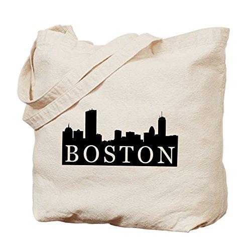 CafePress - Boston Skyline - Natural Canvas Tote Bag, Cloth Shopping - Boston Downtown Shopping