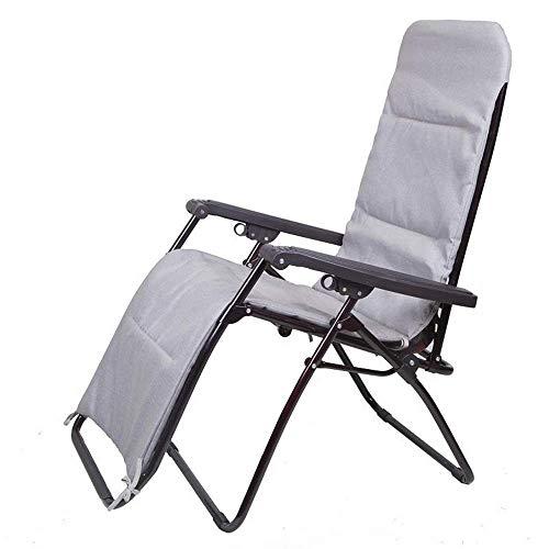 Paseo Silla Plegable,Zero Gravity Recliners Sillas Lounge Patio Sillas Patio Plegable Lawn Recliner al Aire Libre , Cojin de Asiento extraible,B