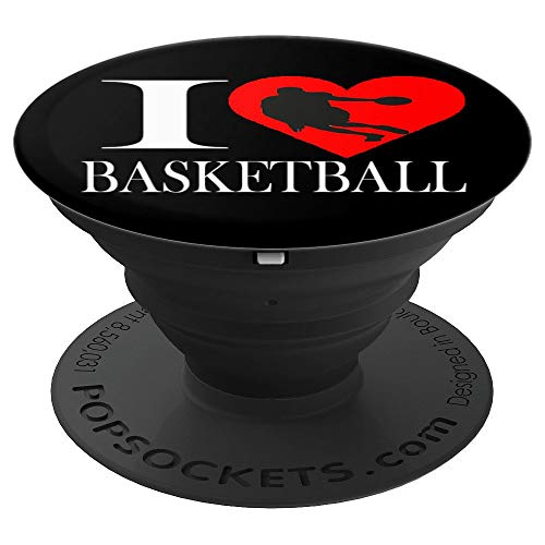 Girl Silouette (I love basketball Silouette Cool Gift For Boys And Girls - PopSockets Grip and Stand for Phones and Tablets)