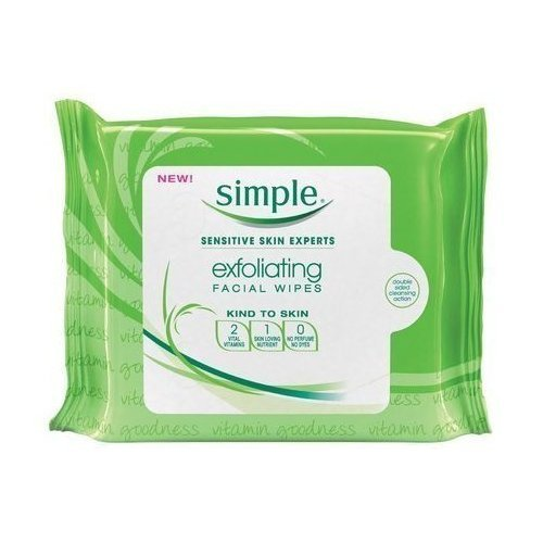 Simple Kind To Skin Exfoliating Wipes, 25 Ct (Quantity Of 5) AB-85833
