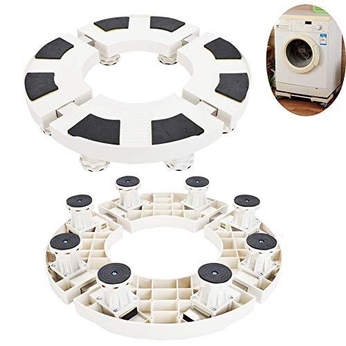 Base- Adjustable Washing Machine Base Stand, Refrigerator Holder Bracket Fridge Base Stand Mobile Bases Multi-functional Movable Round (Size : 8feet)