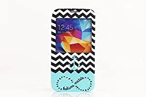 Special Cool Design New S-View Window Print Flip Leather Case Cover For Samsung Galaxy S5 SV I9600
