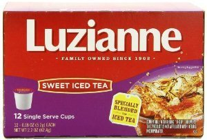 Luzianne, Iced Tea, Sweet Iced Tea, K-Cups, 12 Count, 2.16oz Box (Pack of 3)