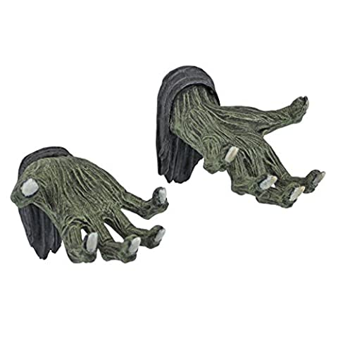Hands of the Undead Zombie Wall Sculptures - Zombie Statue - Halloween Prop (Mummy At Midnight)