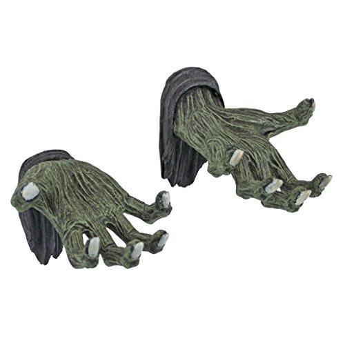 Design Toscano Hands of The Undead Zombie Wall Sculptures - Zombie Statue - Halloween Prop -