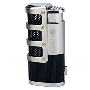 8. Mantello Catador Triple Jet Flame Butane Cigarette Torch Lighter