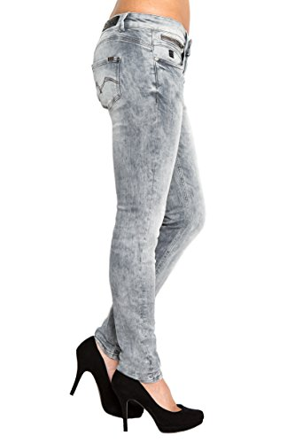 Lost in Paradise Claire slim grey used Jeans Damen Denim