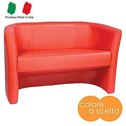 Divano divanetto due posti moderno in ecopelle fuxia fucsia modello ...