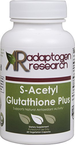 S-Acetyl Glutathione Plus | Antioxidant Support | S-Acetyl Glutathione  200mg | NAC 1000mg | Vitamin B6 10mg | 60 Vegetarian Capsules |  by Adaptogen Research | Professional Grade Supplements