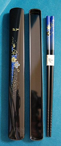 Tanaka Hashiten Chopsticks with Box, Dark Blue, 22.5cm