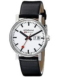 Mondaine Men's A669.30300.11SBB Big Date Leather Band Watch