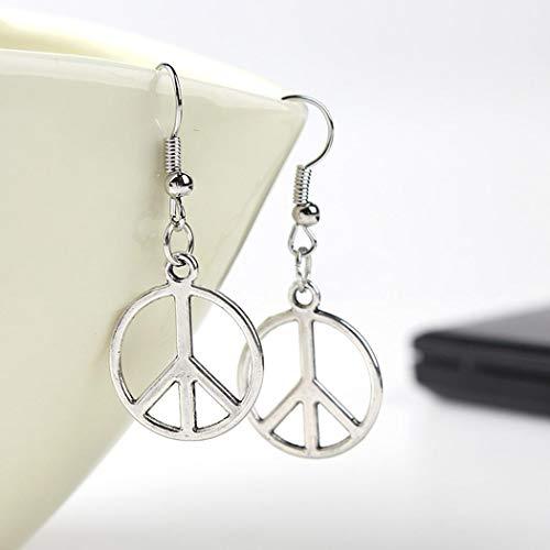 Aelove 6 Pairs Earrings Set Stud Women Jewelry Ear Stud Moon Flower Leaf Shiny Rhinestone
