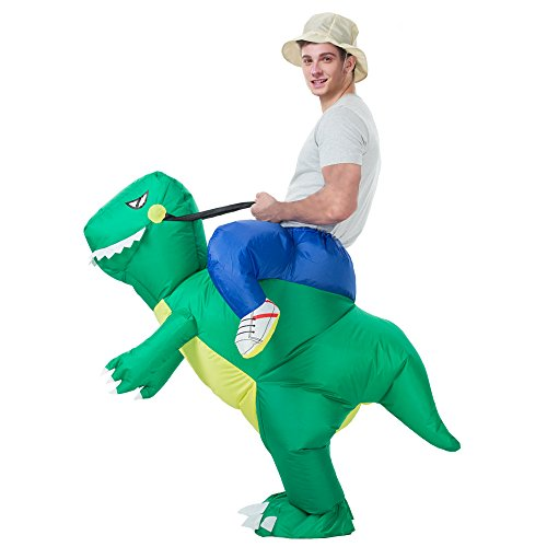AOSKA- Inflatable T-REX Dinosaur Adult Costume   Role Playing Costume   Party Costumes(Green Dinosaur Adult)