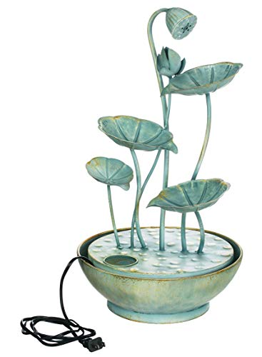 Sullivans Cascading Metal Lily Pads Water Fountain