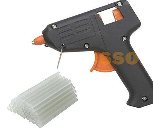 Hot Melt Glue Gun With 60 Mini Clear Glue Sticks For Arts Craft Voltage 120v Ul Listed Black Ac Wall Power Brand New