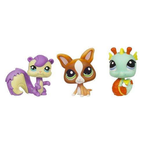 Littlest Pet Shop Tube 3-Pack Pink Bird Chihuahua /& Yellow Butterfly