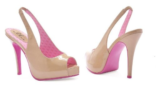Ellie Shoes Women's 451-Maryellen, Beige, 6 M US ()