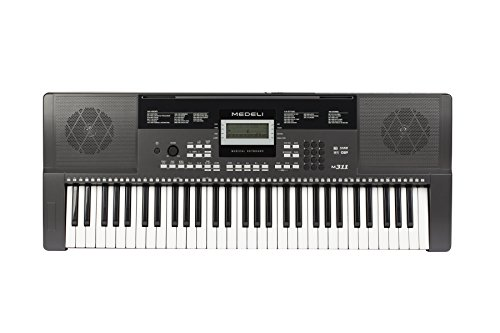 Medeli M311 61-Key Portable Electronic Keyboard with Interactive LCD Screen & Includes Power Supply