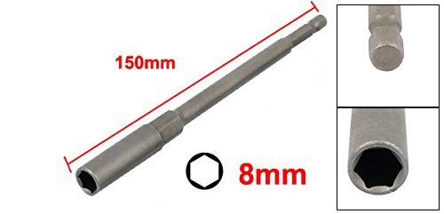 eDealMax 150 mm de largo de 8 mm Hexagonal Tuerca magnética controlador Conjunto adaptador Broca - - Amazon.com