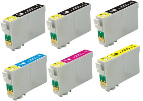 Virtual Outlet ® 6 Pack Remanufactured Inkjet Cartridges for Epson T125 #125, T125120 T125220 T125320 T125420 Compatible with Epson Stylus NX125, Stylus NX420, Stylus NX625, Stylus NX230, Stylus NX130, Stylus NX530, Stylus NX127, WorkForce 323, WorkForce