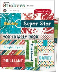 (Cosmo Cricket Cardstock Stickers 6 Inch by 6 Inch Sheets 2/Package, Get Happy 14 Pieces)