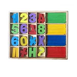 Wooden Numbers and Sticks Set