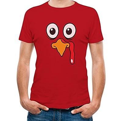 Turkey Face - Funny Thanksgiving Men's T-Shirt