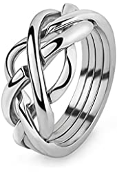 Puzzle Ring in Sterling Silver 4WSL