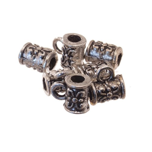 DIY Jewelry Making: 25x Tibetan Silver Hangers, Cup, Antique Silver, about 5.5mm in diameter, 7.5mm long, hole: about 2.5mm