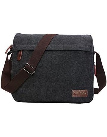 cd165851e2e067 SUPA MODERN® Canvas Messenger Bag Shoulder Bag Laptop Bag Satchel Bag  Bookbag School Bag Working