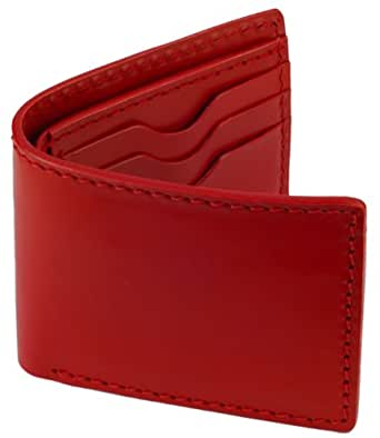 Leather Bifold Wallet Heavy Duty Leather Red W Red Interior At Amazon Men S Clothing Store