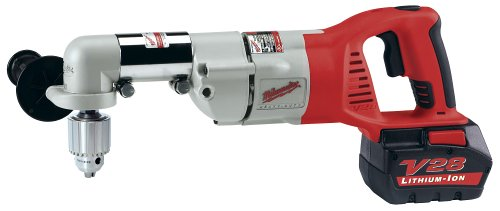 Milwaukee 0721-21 V28 28-Volt Lithium-Ion 1/2-Inch Cordless Right Angle Drill/Driver Kit