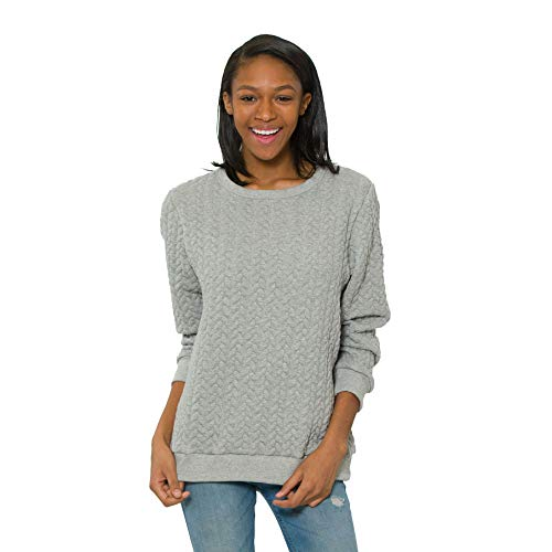 - Flying Colors Women's Cable Knit Relaxed Fit Sweater