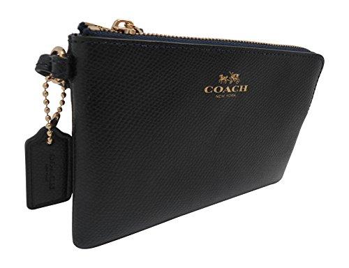 Coach Crossgrain Leather Corner Zip Wristlet Midnight by Coach (Image #1)