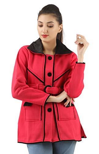 fanideaz Women's Solid Bomber Jacket  FWWJA004PNK_M_Pink_Free Size