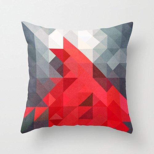 Uloveme Throw Pillow Covers Of Geometry 16 X 16 Inches / 40 By 40 Cm,best Fit For Lounge,gril Friend,festival,sofa,monther,club Each Side