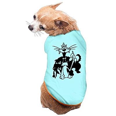 DUXA Funny Cat With Dog Behind Art Printing Fashion Cute Dog Shirt