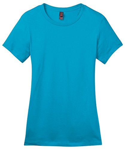 Perfect Weight Crew Neck Tee - District Made Women's Perfect Weight Crewneck T-Shirt_Bright Turquoise_Large