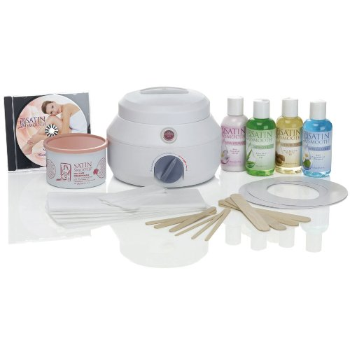 Satin Smooth SSW09C Professional Single Wax Warmer Kit, Deluxe Cream SSW09CKIT