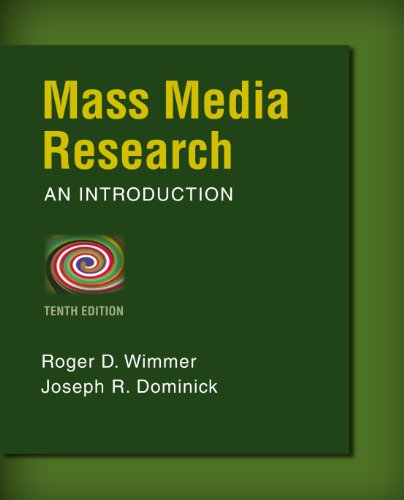 Mass Media Research (Wadsworth Series in Mass Communication and Journalism) Pdf